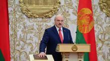 "Macron afirma que presidente de Belarus ""tem que sair"""