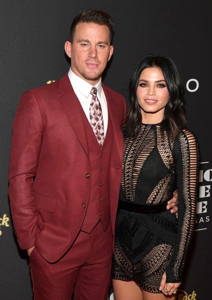 Channing Tatum and Jenna Dewan Tatum attend the grand opening of