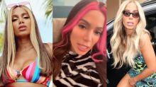 """Anitta investe (pelo menos) R$ 24 mil em perucas """"diferentonas""""; confira as peças"""