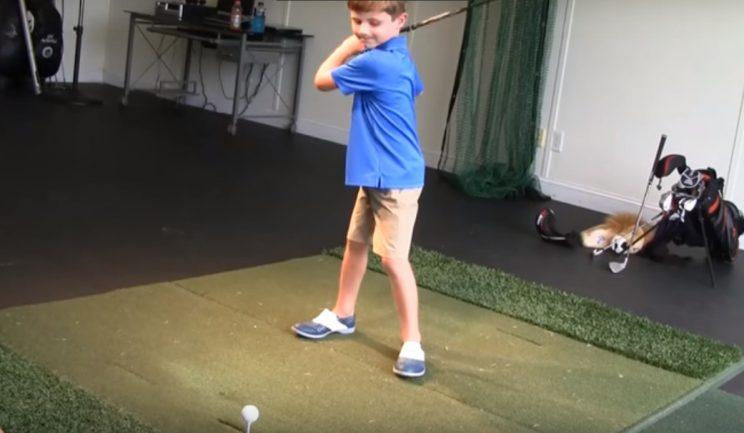 5-year-old, One-armed Golfer Does Great Pro Golfer Swing
