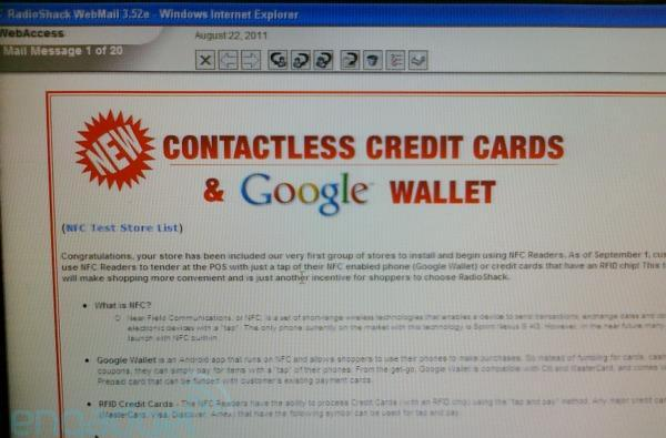 Mild-mannered RadioShack employee outs Google Wallet's launch date?