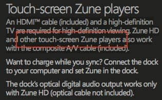 """""""Other touch-screen Zune players"""" referenced in Zune HD manuals"""