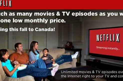 Netflix to launch streaming-only service in Canada Wednesday