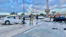 Fatal wrong-way, head-on crash shuts down westbound lanes on the Dolphin Expressway
