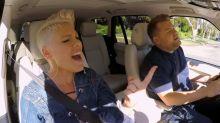 On 'Carpool Karaoke,' Pink reveals the funny gift that Bon Jovi got her after he broke her heart