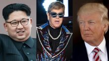 Kim Jong Un said he's never heard Elton John's 'Rocket Man,' so Trump reportedly sent him an autographed CD