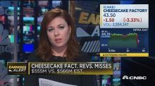 Cheesecake Factory misses on bottom line