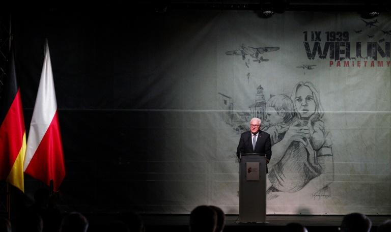 """We want to, and we will, remember. And we will bear the responsibility that our history imposes upon us,"" German President Frank-Walter Steinmeier said (AFP Photo/Alik KEPLICZ)"