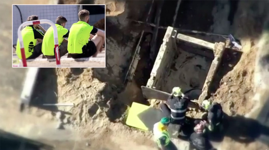 Workmates' desperate attempt to save man who died in trench fall