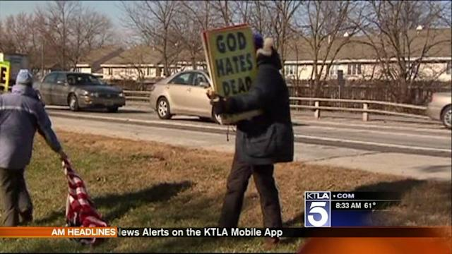 Westboro Baptist Church Protests Outside Glendale Churches