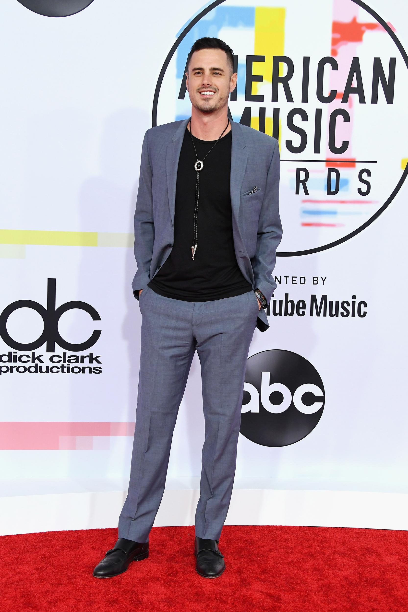 LOS ANGELES, CA - OCTOBER 09:  Benjamin Higgins attends the 2018 American Music Awards at Microsoft Theater on October 9, 2018 in Los Angeles, California.  (Photo by Steve Granitz/WireImage)