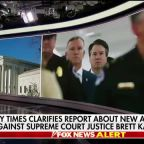 New York Times clarifies report about allegation against Supreme Court Justice Brett Kavanaugh