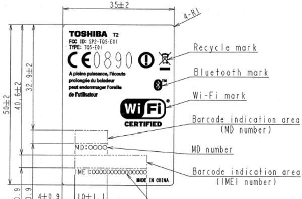 Toshiba TG02 lives, drops by the FCC