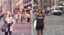 Visitando os mesmos cenários, mulher recria imagens feitas há 30 anos