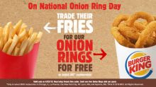 For National Onion Ring Day, Trade Their Fries for BURGER KING® Rings