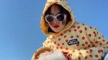 韓國女藝人泫雅SNS發佈與寵物犬合影