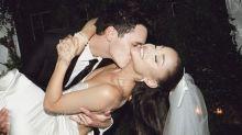 Ariana Grande shares stunning photos from secret wedding
