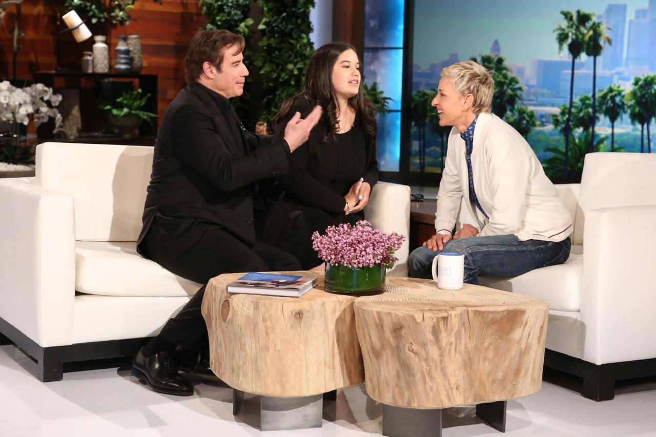 John Travolta's Daughter Does Her Driving Test on 'Ellen'