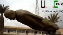 Raw: Syrian Rebels Tear Down Assad Family Statue