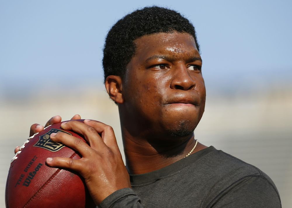 Tampa Bay Buccaneers quarterback Jameis Winston enters his third NFL season with big expectations. (AP)