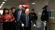 "Harvey Weinstein Denies His Walker Is ""A Prop"", Tells Reporters ""I'll Have A Race With You"""