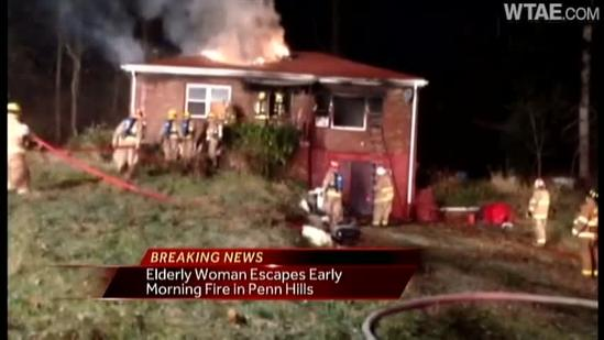 Elderly woman escapes early-morning Penn Hills fire