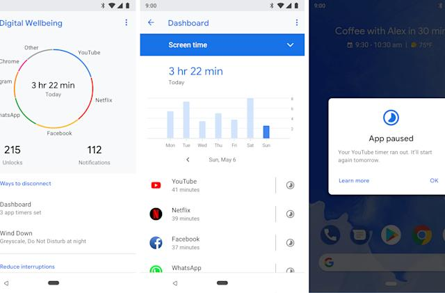 Google rolls out Digital Wellbeing tools for Android