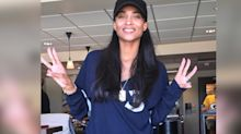 Ciara's no makeup-makeup is the best part of game day