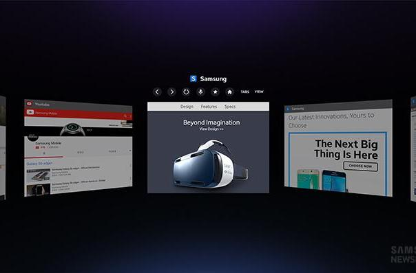 Samsung made a web browser for the Gear VR