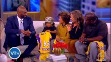 Kobe Bryant dropped by 'The View' with a poignant surprise for a 6-year-old fan