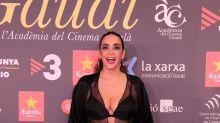 Cristina Rodriguez, ¡transparencias curvy en los Gaudí!