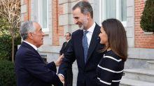 Los reyes ofrecen un almuerzo a Rebelo de Sousa en el Palacio de la Zarzuela