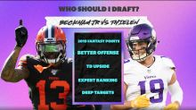 Should I pick Odell Beckham Jr. or Adam Thielen in my fantasy football draft?