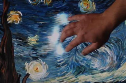 Van Gogh's Starry Night modded into beautiful interactive light and sound show (video)