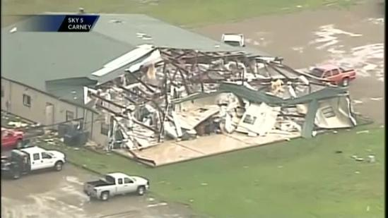 Tornado damage: Up to 23 homes damaged, destroyed in Carney