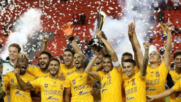 TRIUNFO MEXICANO   Tigres se llevó la primer edición de la Campeones Cup