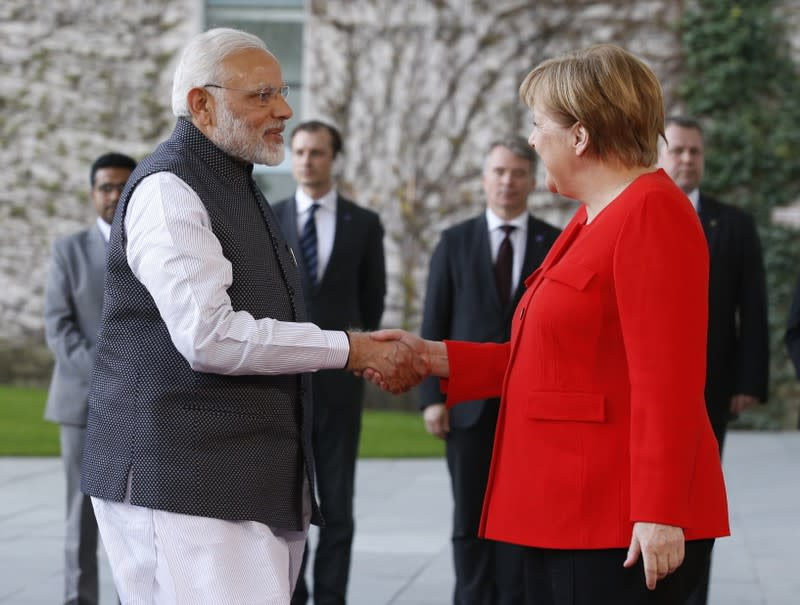 German Chancellor Angela Merkel to arrive in India