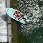 Helicopter Crew Rescues 4 Women Stuck in Boat Dangling Over Edge of Dam in Texas: 'Scary!'