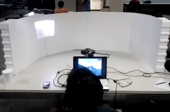 Gaming gets immersive thanks to union of pico projector and eye tracking camera (video)