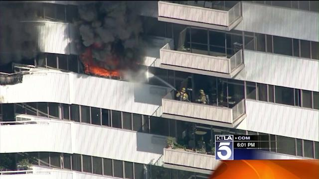 Child Critical, Others Hospitalized After Fire at 25-Story Building