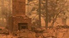 Homeowner Surveys Ruins as Detroit, Oregon, Ravaged by Fire