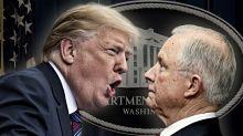 Trump blames Russia probe on Jeff Sessions