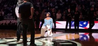 Anthem singer takes a knee at NBA game
