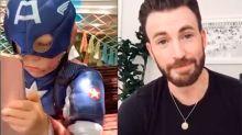 Chris Evans envía un mensaje especial al niño que salvó a su hermana del ataque de un perro