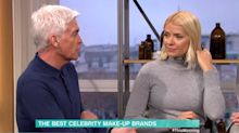 Phillip Schofield makes dig at Claudia Winkleman's make-up range on This Morning