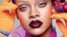 Rihanna rocks retro pin thin eyebrows on landmark British Vogue cover