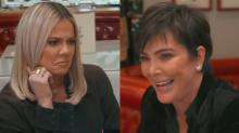Khloé Kardashian and Kendall Jenner cringe as Kris Jenner talks about her sex life