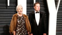 Elon Musk's model mom stuns at Oscars after-party