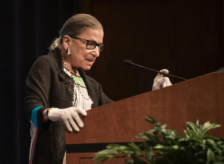 The death of Justice Ruth Bader Ginsburg, seen on September 20, 2017, leaves a vacancy on the Supreme Court bench
