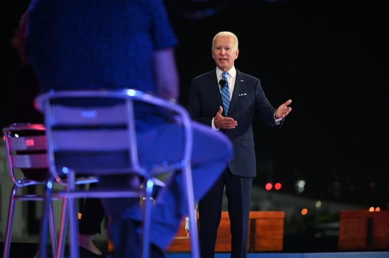 "Democratic presidential nominee Joe Biden, campaigning in Florida, called on President Donald Trump to communicate a key message about fighting the spread of coronavirus: ""masks matter"""